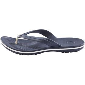 Crocs Crocband Flache Sandalen navy